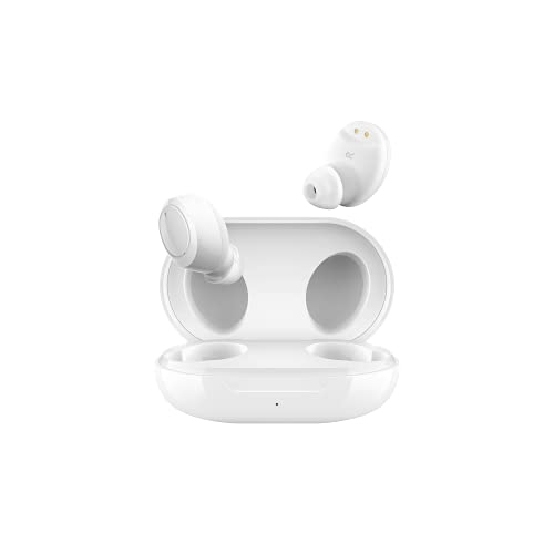 OPPO Enco W11 Bluetooth Wireless Earphones with Mic, 20H Battery Life, Noise Cancellation During Calls, IP55 Dust & Water Resistant Supports Android and iOS(White)