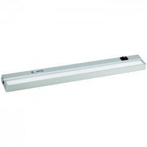 Rolux Warmweiss LED SMD Dimmbare superflache 15 Watt Aluminium Unterbauleuchte mit schwarzen Euro-Stecker 930mm