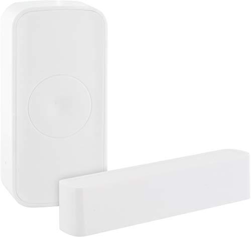 SCHWAIGER -ZHS19- Tür- und Fenstersensor/Türalarm/Fensteralarm/Alarmanlage/Einbruchschutz Tür, Fenster/Zigbee/Smart Home/Steuerung per App/Sprachsteuerung mit Alexa, Google