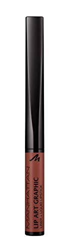 Manhattan Lip Art Graphic 110 Now or Never in Taupe Pflegender Lippenstift, für einen femininen Look, Maximale Farbintensität und langer Halt