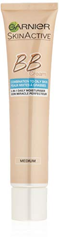 Garnier BB Cream Miracle Skin Perfector Matte Effect Medium / Dark, crema de día tonificada con vitamina C, protector solar, 40 ml