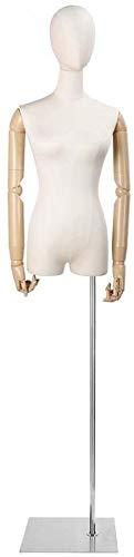 GUIYTQ5R Maniqui Costura Pendiente de maniquí Femenino de maniquí Profesional de maniquí Profesional Pendiente portátil de la Cabeza sólida para el Soporte de la exhibición de la Ropa (Color : B)