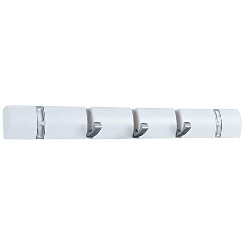 SparY Gancho Plegable Soporte de Pared Soporte Abrigo Perchero para Sombreros Madera Aleación de Zinc Puerta Colgador de Toallas (Blanco) - Blanco, Free Size