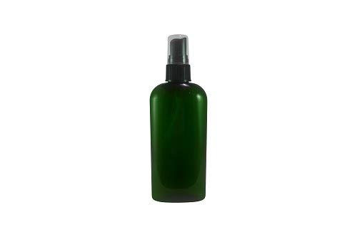 WM (Wholesale Set of 24) 4 Oz Green Oval Refillable Empty Plastic Bottle w/Fine Mist Spray. Ideal for Aromatherapy. Spritz, Mists, Room refreshers