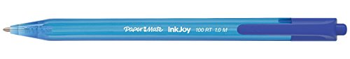 Paper Mate InkJoy 100RT Retractable Ballpoint Pens, Medium Point, Blue, Box of 12 (1951253), 12 Count Photo #2