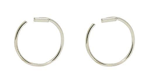 Sicuore Piercing Ear Cuff Segment Bar for Women Men – 925 Sterling Silver Includes Gift Box