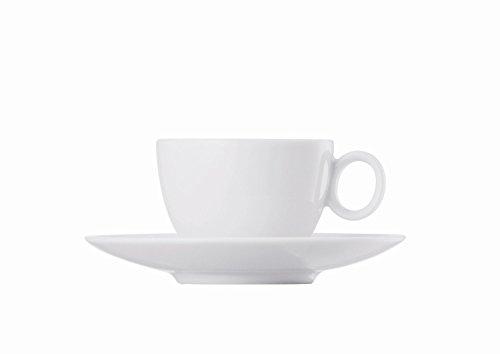 Tasse à Expresso et Soucoupe Thomas Loft, Porcelaine, Blanc, Compatible Lave-Vaisselle, 8 cl, 2 Pièces, 14715