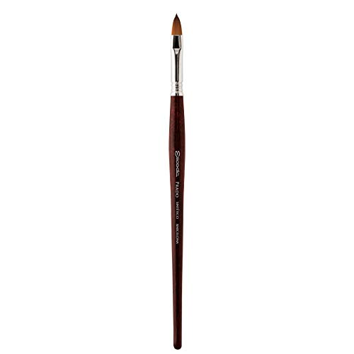 Speedball Art Products Escoda Prado Series Artist Watercolor & Acrylic Short Handle Filbert Paint Brush, Size 22, Synthetic Sable