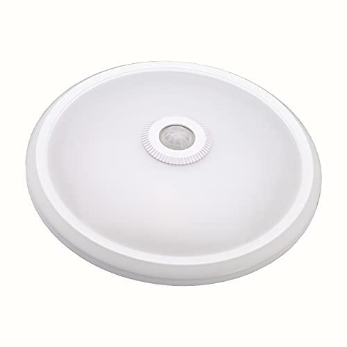 TEVEA - Lampada da soffitto con sensore di movimento PIR 12W Blanc Chaud 230V