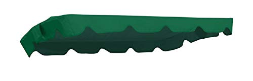 MFG Hollywoodschaukel Ersatzdach 182 x 134 cm (Taschenmaß 176 x 130 cm), dunkelgrün, 100% Polyester