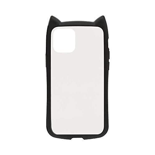 ラスタバナナ iPhone12 mini 5.4インチ 専用 ケース カバー ハイブリッド VANILLA PACK mimi GLASS バニラパック 猫耳 ネコミミ ガラス ブラック アイフォン スマホケース 5647IP054HB
