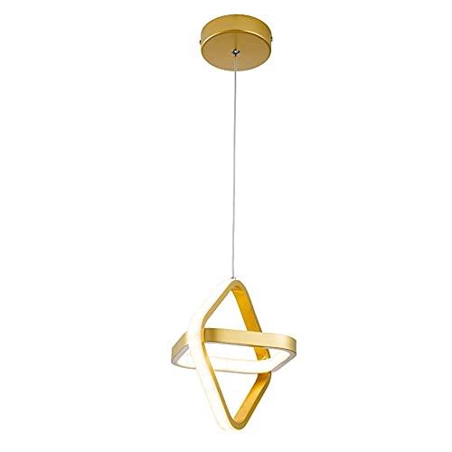 Lámparas De Araña, Iluminación De Techo, Adecuado Para Un Accesorio De Iluminación Moderno En La Sala De Estar, Comedor, Dormitorio, Pasillo Simple. DIRIGIÓ Candelabro (Color : Gold(White light))