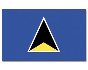 St. Lucia  Flagge Fahne 90 * 150 cm