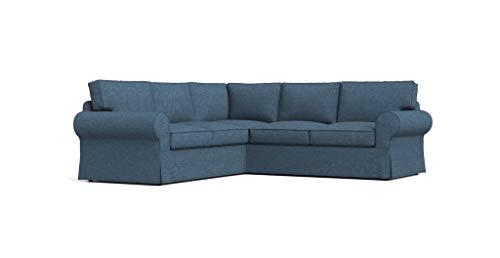 TLYESD Ektorp 2+2 Sectional Sofa Cover for IKEA Ektorp 4 Seat Corner Slipcover (Navy Blue, Polyester & Polyester Blend)