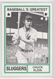 Chuck Klein (Baseball Card) 1982 TCMA Baseball's Greatest - Sluggers - White Back #1982-26