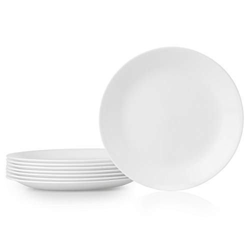 Corelle Lunch Plate, 8 Pieces, Winter Frost White