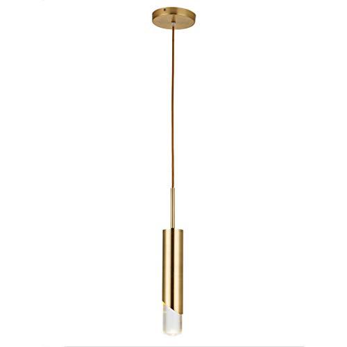 Yyqx Lámparas Colgantes Dormitorio de una Sola Cabeza de Noche lámpara de Comedor Sala de Arte Luxury Light Bar Araña Lámpara de Techo Colgante