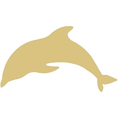 Nautical Theme Shark Style 1 Unfinished MDF Cutout Variety Sizes USA Made