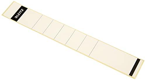 Leitz Rückenschild selbstklebend für Standard- und Hartpappe-Ordner, 10 Stück, 50 mm Rückenbreite, Langes und schmales Format, 39 x 285 mm, Papier, weiß, 16480001