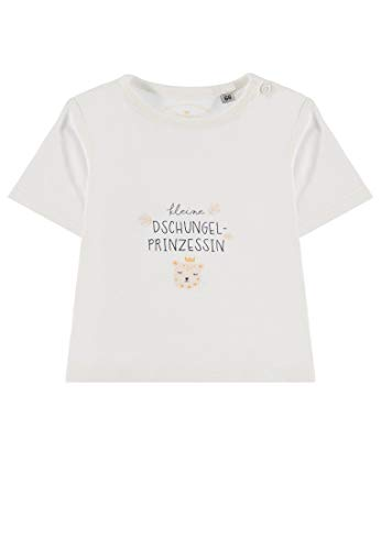 TOM TAILOR Kids T- Shirt Placed Print, Blanc (Bright White 1000), 74 Bébé Fille