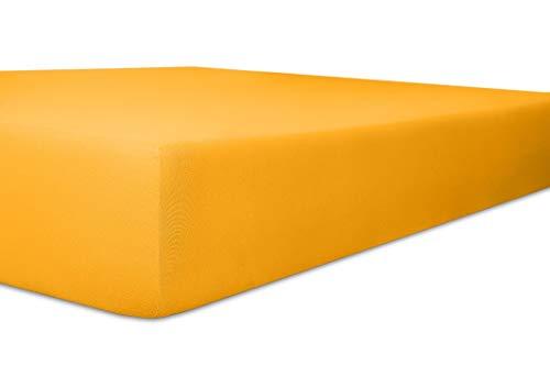 Kneer Easy-Stretch jersey hoeslaken, kleur: 03 honing, grootte:120x200-130x220 cm