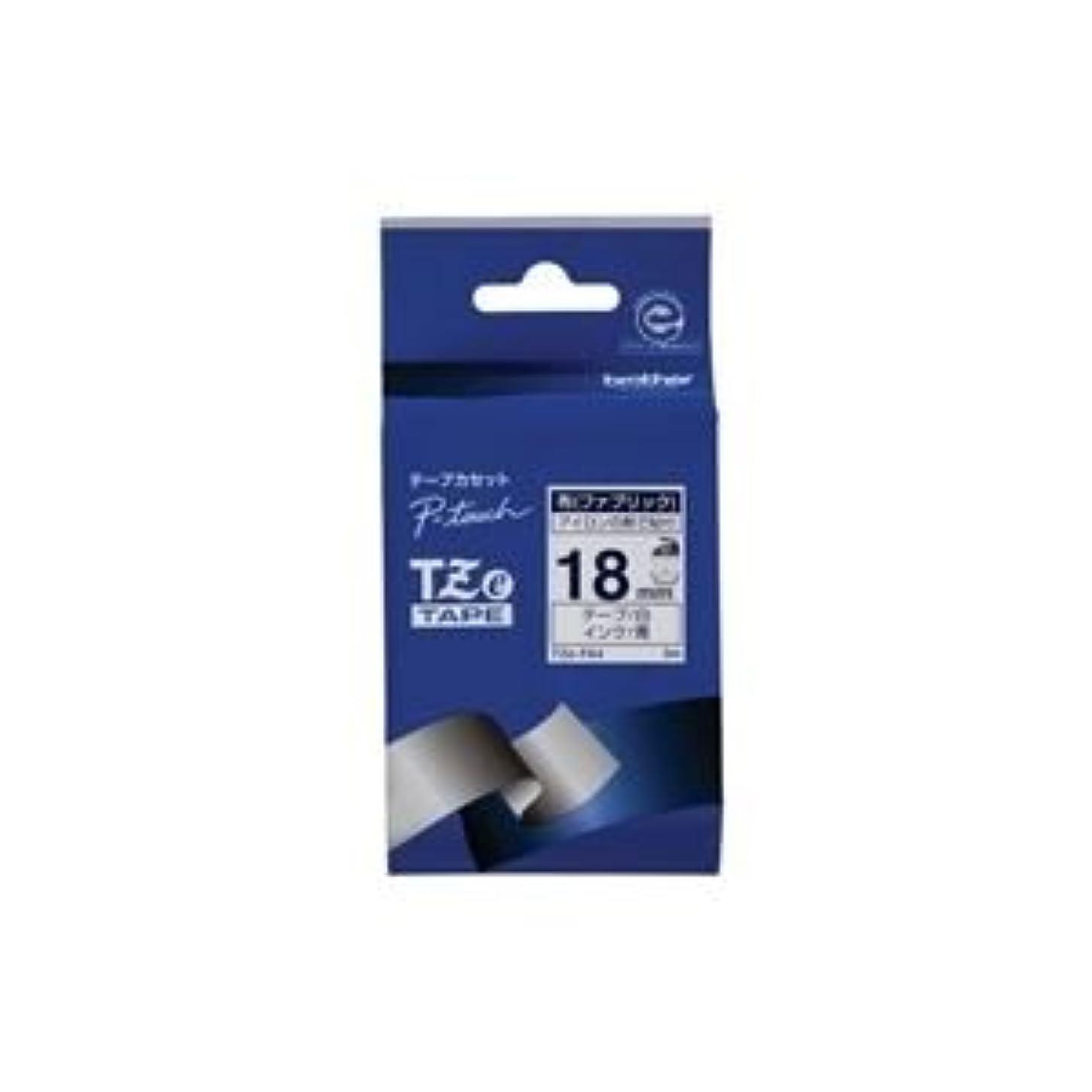ジョガー下フォーカス(業務用3セット)ブラザー工業 布テープ TZe-FA4白に青文字 18mm [簡易パッケージ品]