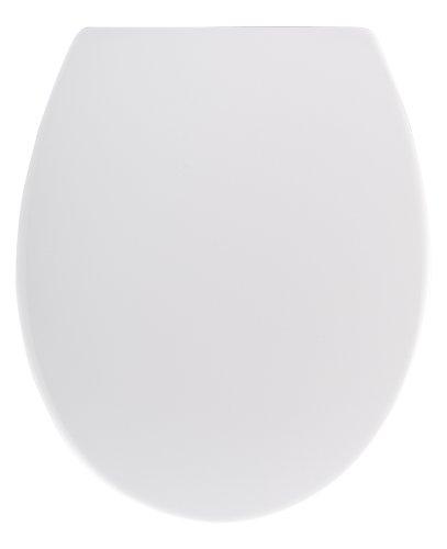 WENKO WC-Sitz Cento, hygienischer Toilettensitz mit Absenkautomatik, WC-Deckel mit Fix-Clip Hygiene-Befestigung, aus antibakteriellem Duroplast, Weiß