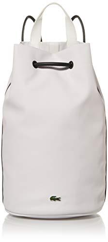 Lacoste Womens Medium Court Line Bucket Bag, Farine Sinople