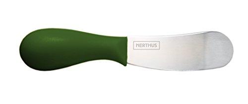 NERTHUS FIH 329 - Cuchillos Untar Set 4 de Unidades, Negro, Verde, Azúl, Naranja