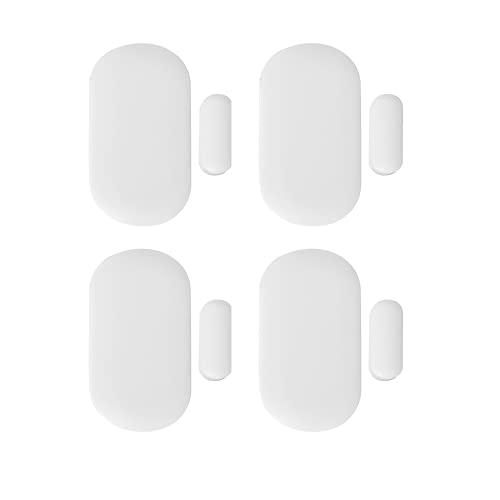 Nivian–Pack 4 Unidades Detector de Apertura valido para Puertas y Ventanas Compatible con Alarma Nivian–Apto para Interior-Inalámbrico 433Mhz - Fácil instalación sin Necesidad de Cables