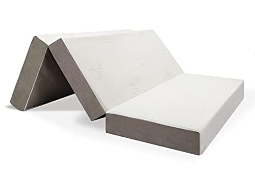 Milliard - Dreifach Memory Foam Faltmatratze 15 cm Dick/Gäste Klappmatratze mit ultraweichem Abnehmbarem Bezug und rutschsicherer Unterseite - 135 x 190 cm