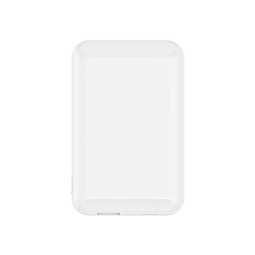 Qi Wireless 5000mAh Power Bank Cargador inalámbrico portátil para Huawei iPhone 12 Pro X Samsung S20 Poverbank Batería Externa Mini Powerbank (Color : White)