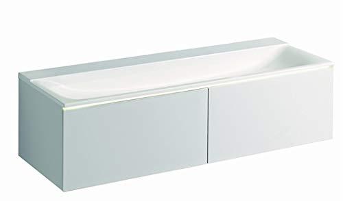 Geberit Xeno 2 wastafel zonder kraangat, zonder overloop, 140x48cm, wit, 500276001-500.276.00.1