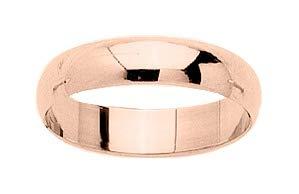 www.diamants-perles.com - Fede nuziale in oro rosa 750/1000 18 carati, larghezza 4,5 mm e Oro rosa 750/1000, 10, cod. RMDJ45RB-50