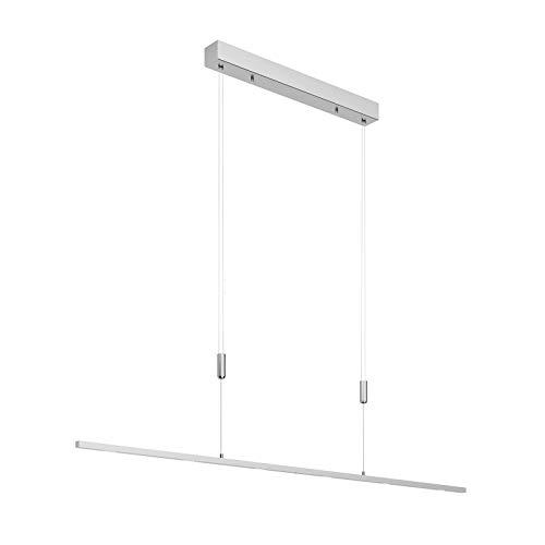 Lucande LED Pendelleuchte 'Arnik' dimmbar (Modern) in Alu aus Metall u.a. für Wohnzimmer & Esszimmer (6 flammig, A+, inkl. Leuchtmittel) - Hängeleuchte, Esstischlampe, Hängelampe, Hängeleuchte