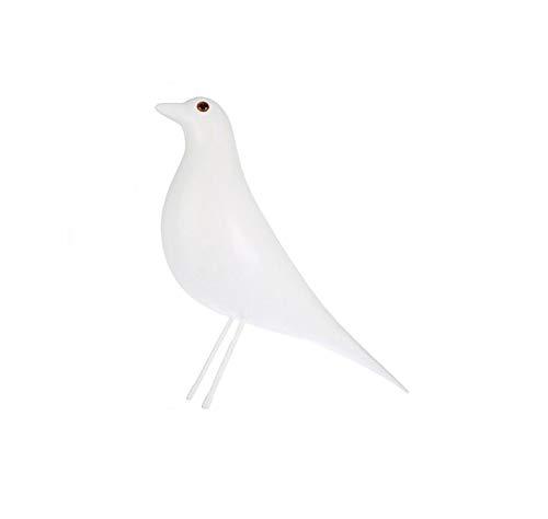 VOANZO - Pájaro de casa de mediados de siglo para decoración de oficina, decoración del hogar, decoración de escritorio, paloma para regalos (blanco)