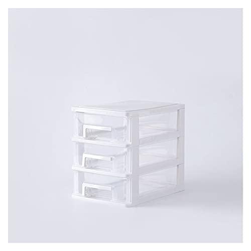 XU TAO Scatola di immagazzinaggio cosmetico Gioielli Make up Organizer Multi-Layer Design Design Contenitore di stoccaggio di plastica per la scrivania (Color : White 3)