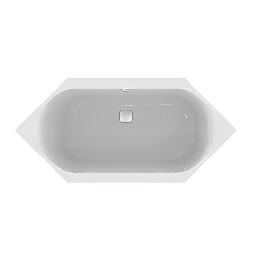 Ideal Standard Sechseck-Badewanne Tonic II, mit Ablauf, 1900x900x480mm, Weiß, K291401