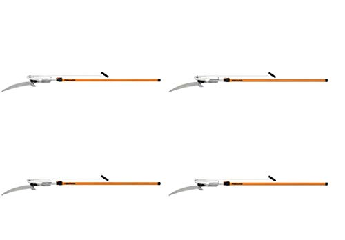 Best Deals! Fiskars 14 Foot Power-Lever Extendable Tree Pruner (93016059J) (Pack of 4)