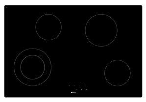 NOVY 1119 hobs - Kochfeld (integriert, elektrisch, Keramik, Sensor, oben vorne, 78 cm), Schwarz