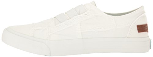 Blowfish Malibu Women's Marley Fashion Sneaker, White Color Washed Canvas, 6 Medium US