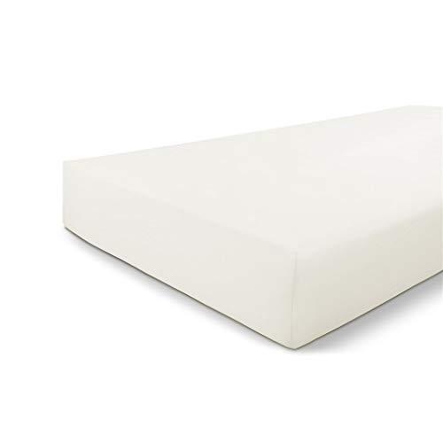 Walra Sábana bajera de 80 x 200 cm, 100% algodón, ajuste perfecto para el colchón, sensación suave, no se arruga ni necesita planchado, color blanco
