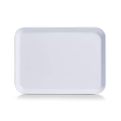 ZELLER PRESENT SCHÖNER LEBEN. PRAKTISCH WOHNEN. Melamintablett, Melamin, Weiß, 24 x 18 cm