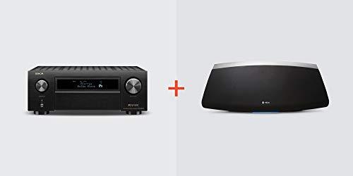Denon AVR-X6500H Receiver + HEOS 7 Wireless Speaker (Black) Bundle, AVRX6500H+HEOS7BK