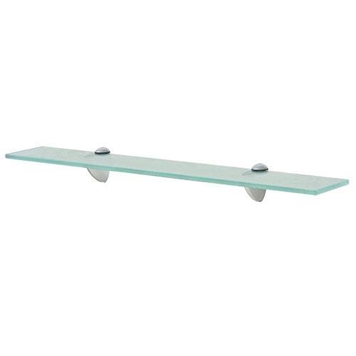 Festnight Schwebendes Regal aus Sicherheitsglas Wand Glasregal Glasboden Glasablage 60 x 20 cm Dicke von 8 mm Tragf?higkeit 10 kg