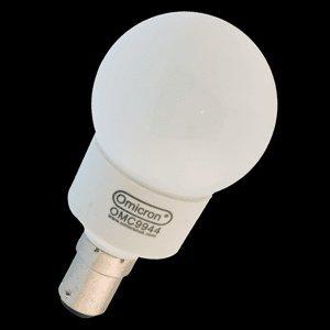 Omicron Ampoule à baïonnette B15d 4 W Culot Petite Ampoule Fluorescente Compact
