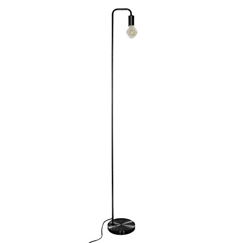 Lámpara de pie de metal – Estilo simple y moderno – Altura 150 cm (Negro)