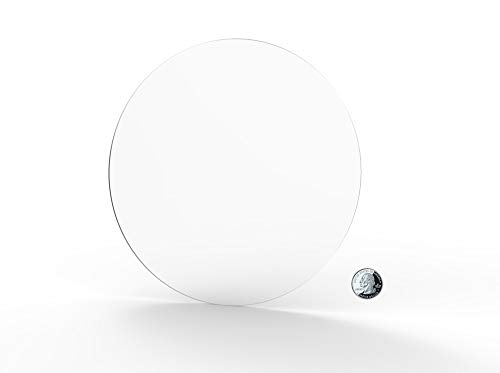 FixtureDisplays 1PK 14' Clear Acrylic Plexiglass Lucite Circle Round Disc, 1/8' Thick 18822-14'-1/8'-FBA Fulfillmen by Amazon
