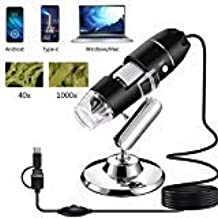 AOLOX USB Microscope, 1000x Handheld Digital Microscope Camera with 8 LED Light and Stand..