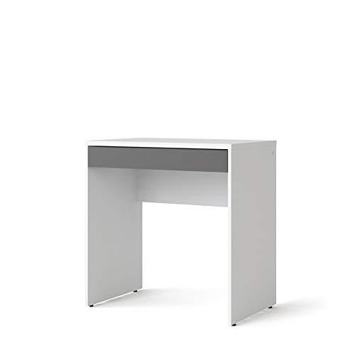 Esidra, Piccola scrivania con cassetto a Contrasto, 75x48x77cm